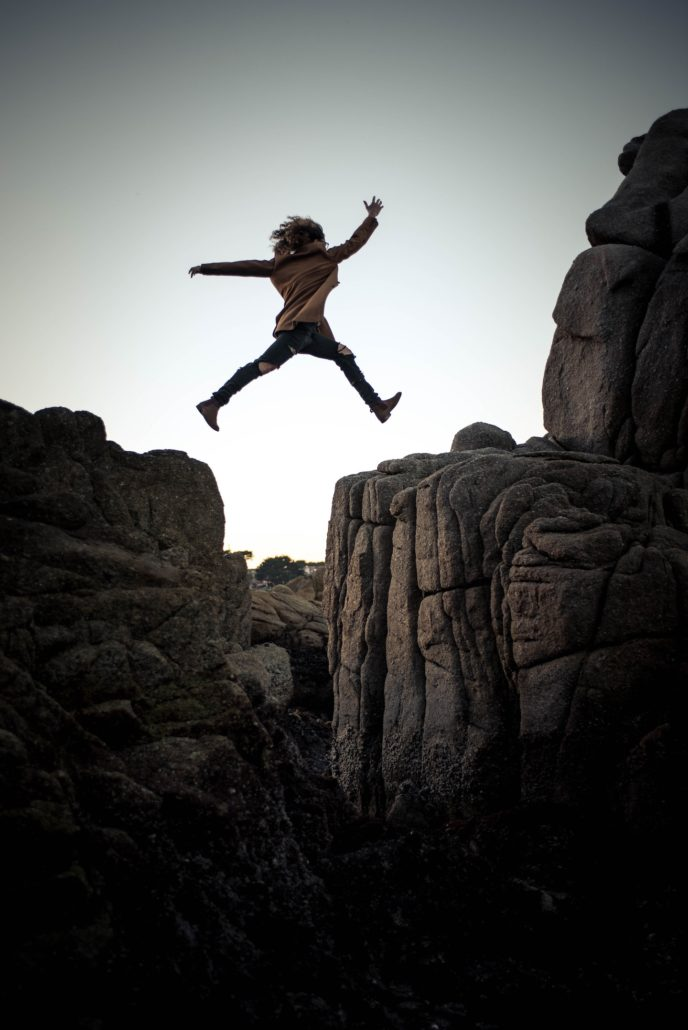 Jumping from a cliff - overcoming fear