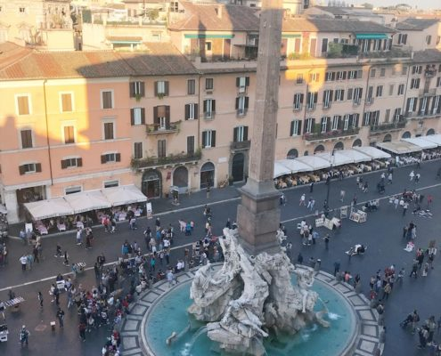 Piazza Navona Fountain of 4 Rivers
